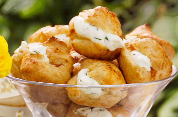 Cheese and chive puffs recipe goodtoknow for Easy canape fillings