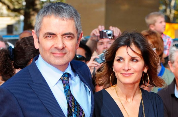 Rowan Atkinson and wife Sunetra