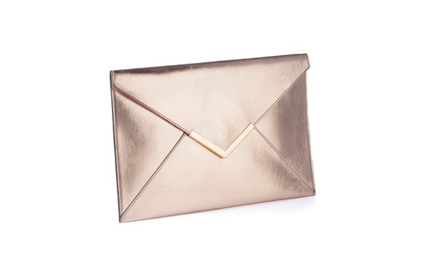 Metallic Envelope Clutch, £20