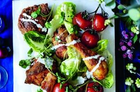 Fried chicken salad platter
