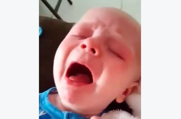 Baby suffering with whooping cough
