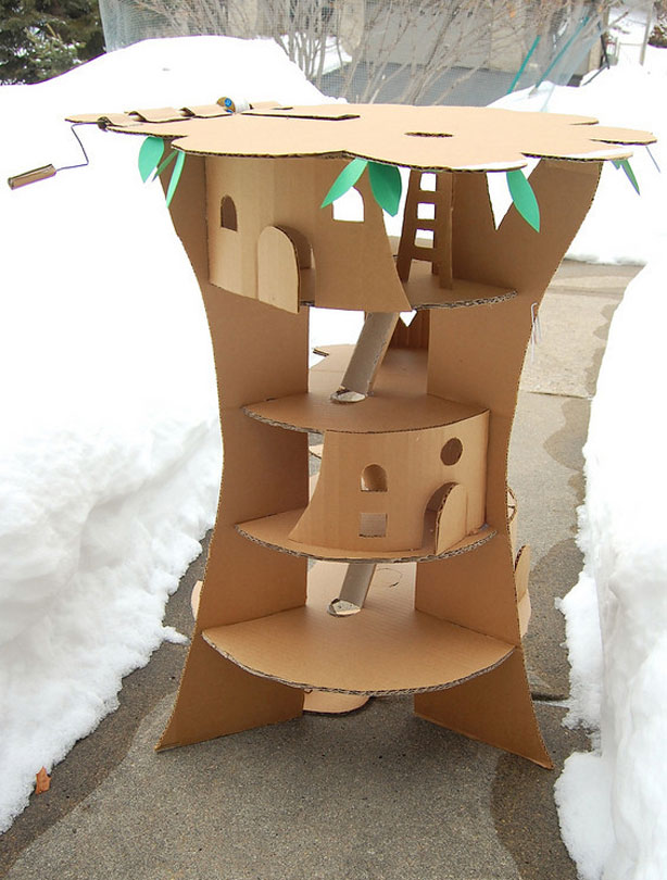 how to build a carton house