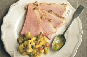 Lisa Faulkner's glazed ham with piccalilli