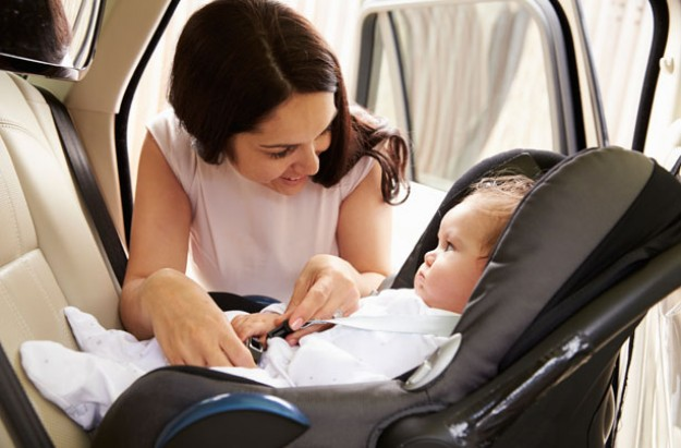 Car seat safety, rear facing car seat