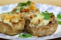 Garlic and cheese stuffed mushrooms recipe