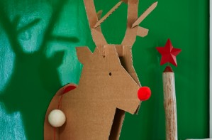 Cardboard stag head Christmas craft