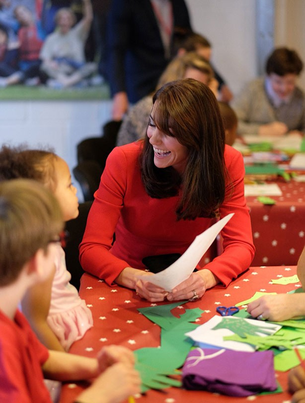 Kate Middleton at Anna Freud Centre's Christmas party in London; 15 Dec 2015