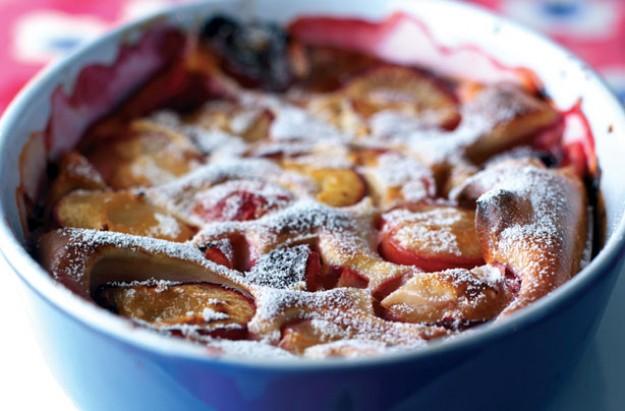 Weight Watchers plum amaretto pudding