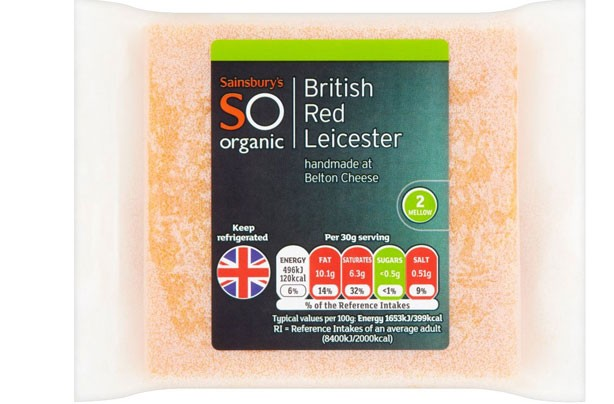 Sainsbury's Organic Red Leicester