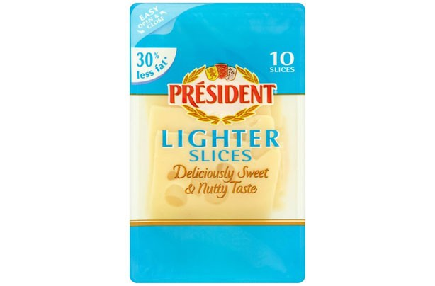President Emmental Lighter Slices