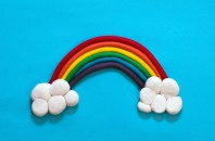 playdough rainbow