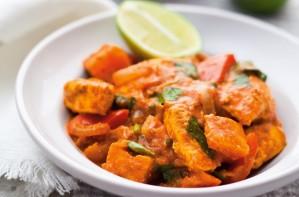Low-calorie chicken tikka masala
