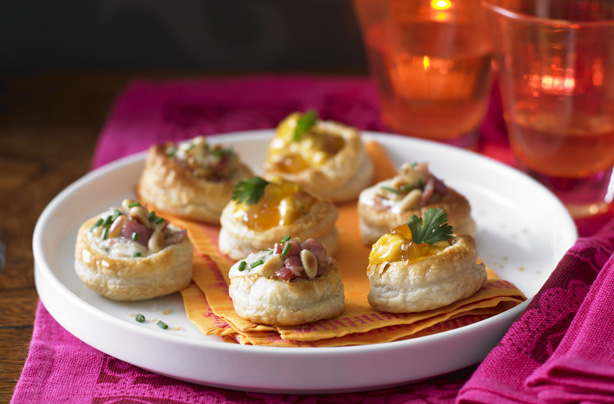 Vol au vent selection recipe goodtoknow for Canape fillings indian