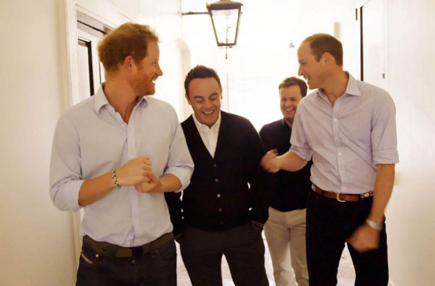 When Ant and Dec met the prince, prince William, Prince Harry
