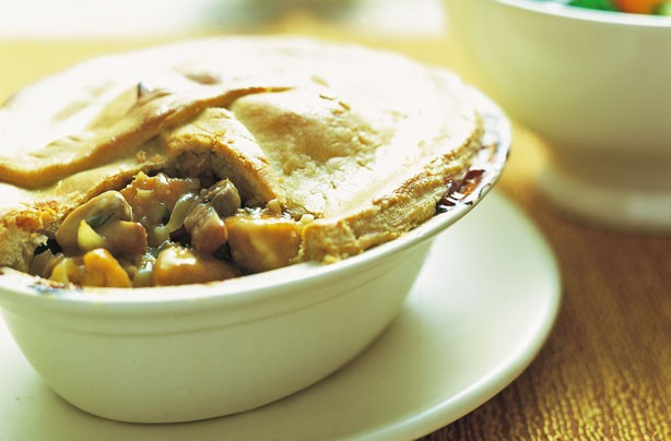 Weight Watchers chicken and mushroom pie
