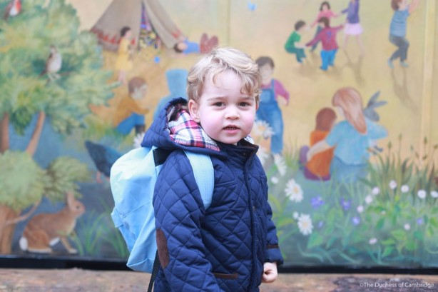 Prince George first day at nursery