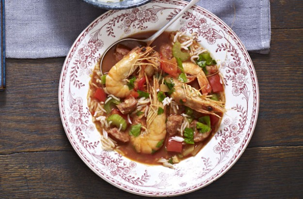 Healthy jambalaya soup