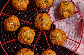Nadiya coconut and lime oaty biscuits