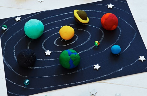 playdough space mat kids' craft