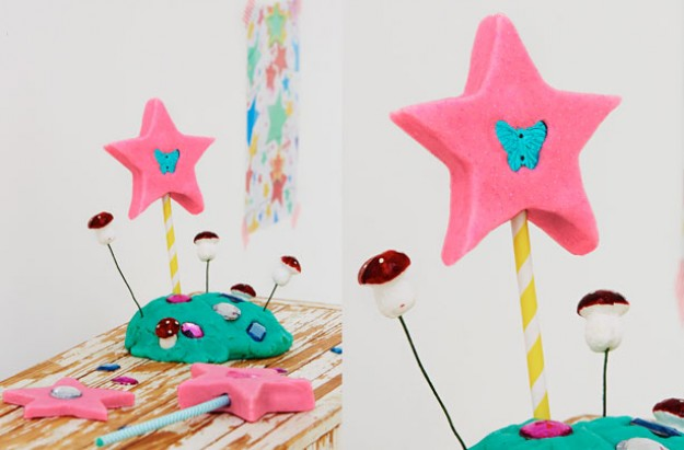 playdough wand kids' craft
