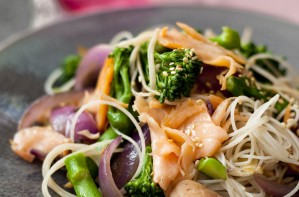 Superfood salmon stir-fry