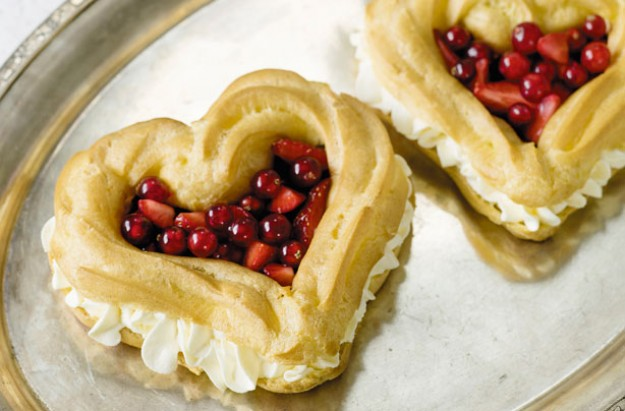 Lisa Faulkner's choux hearts with summer berries