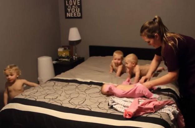 Mum vs triplets