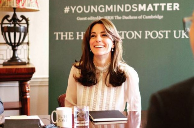 Duchess of Cambridge raises mental health issues in Huffpost