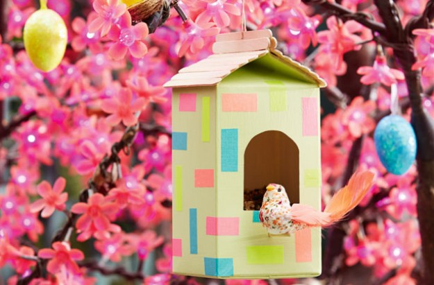 Easter craft bird house