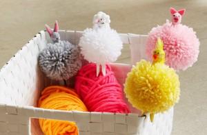 Easter craft pom poms