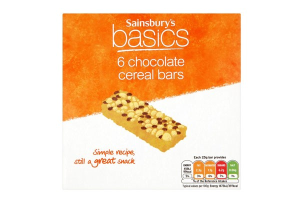 Best and worst cereal bars sainsburys basics