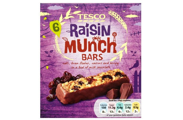 Best and worst cereal bars tesco raisin munch