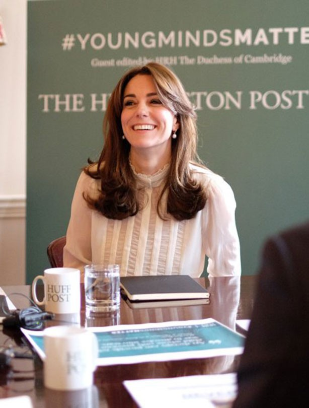 Kate Middleton guest edits the Huffington Post UK: 17 Feb 2016