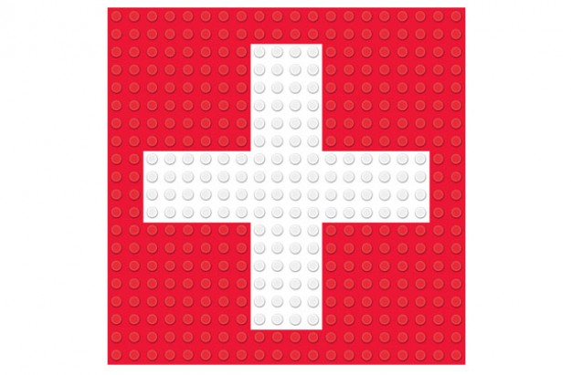 First aid for children red cross flag