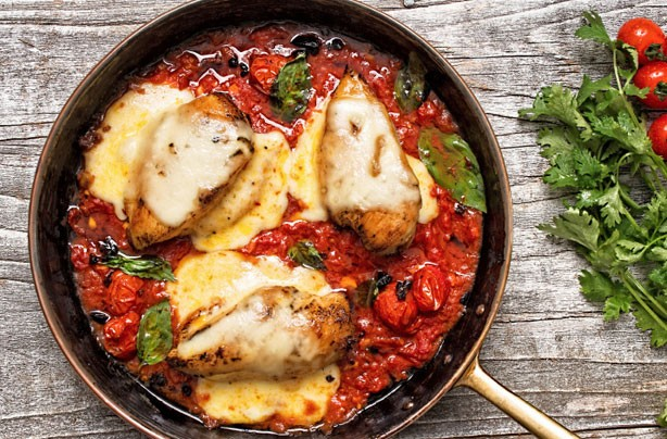 Tomato baked chicken recipe