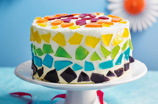 Stained glass cake recipe goodtoknow for Cake recipe ideas uk