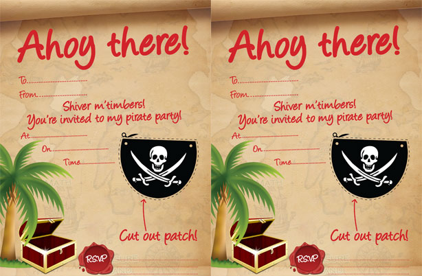 Pirate party ideas goodtoknow free pirate party invites stopboris Choice Image