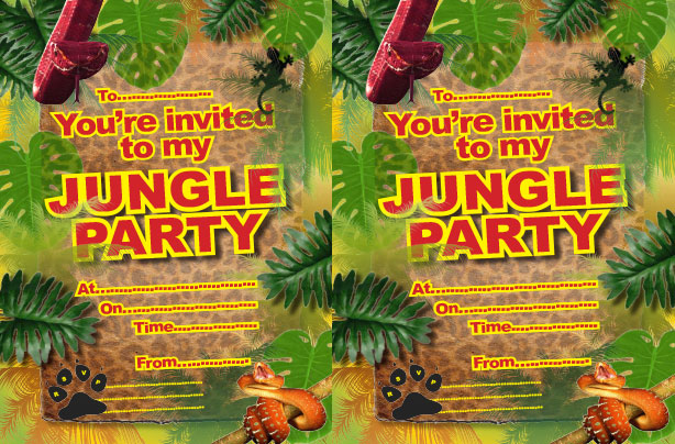 Jungle party ideas goodtoknow – Jungle Party Invitation