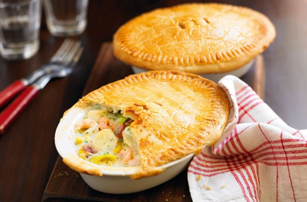 Fish pie with bacon