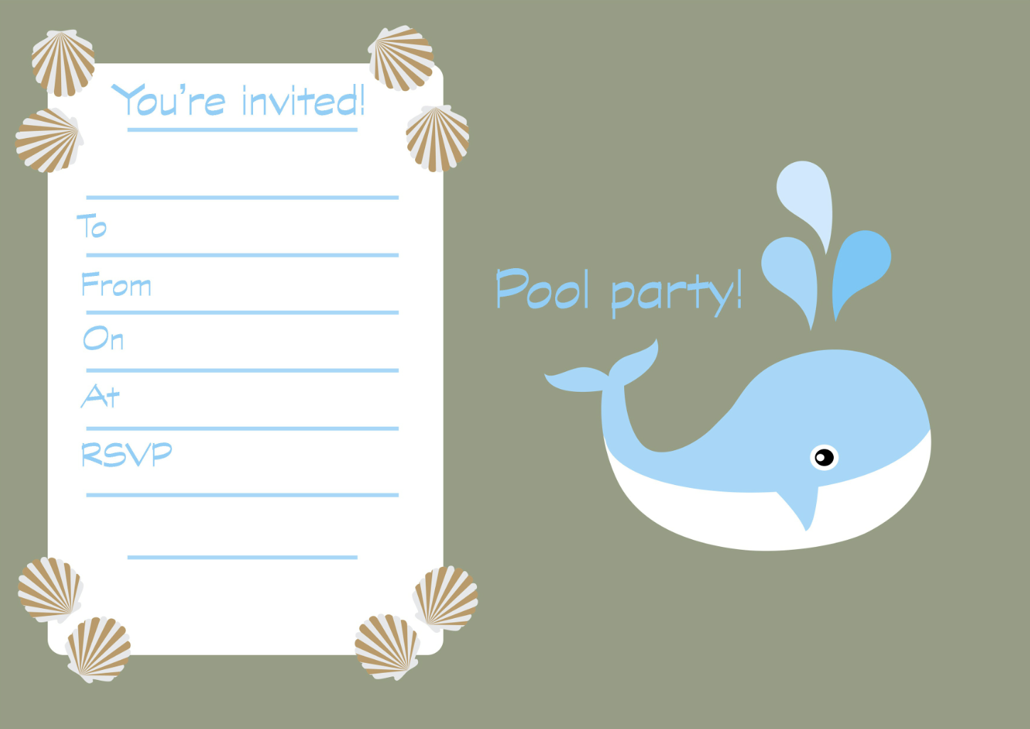 printable children s birthday party invitations goodtoknow printable swimming pool party invitations