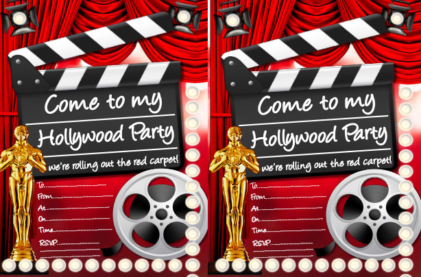Hollywood party ideas goodtoknow – Movie Themed Invitation Template