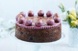 Nadiya Hussain's red berry simnel cake