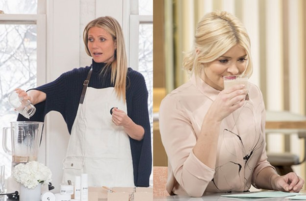Holly Willoughby, Gwyneth Paltrow, Moon Dust Smoothie