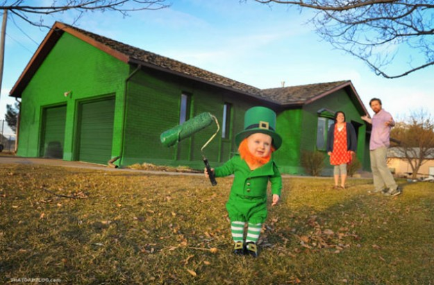 baby leprechaun that dad blog
