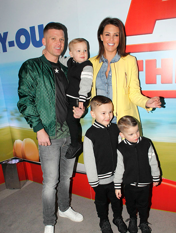 Danielle Lloyd With her boyfriend-turned fiancee Michael O'Neill and her three children with ex-husband Jamie O'Hara