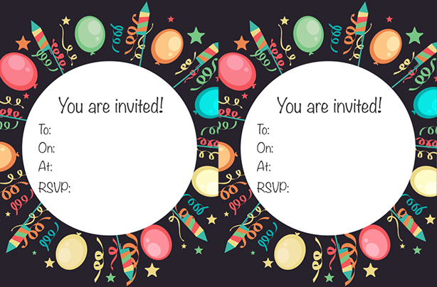 FREE printable children's birthday party invitations ...