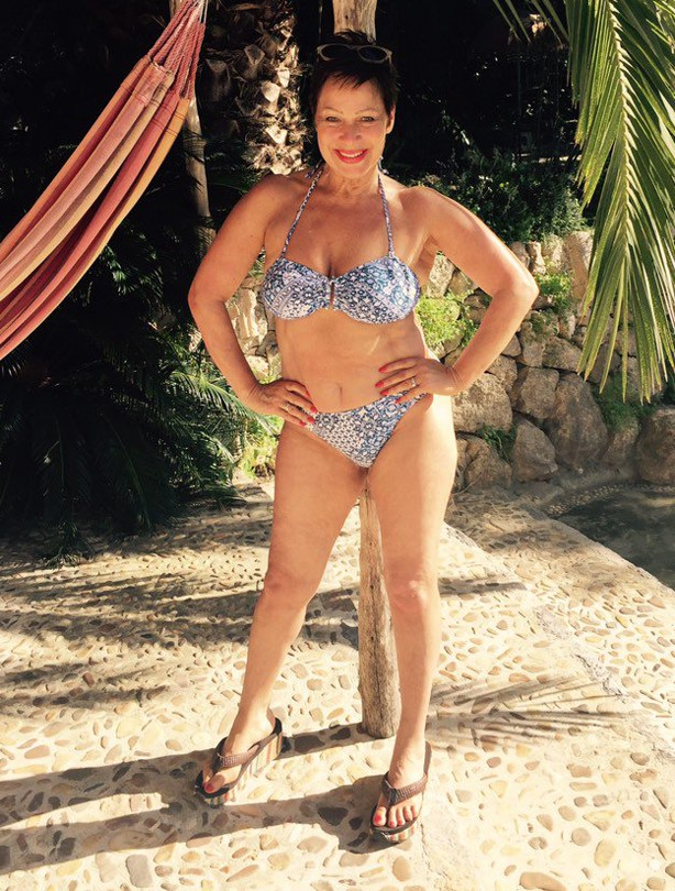 Denise Welch, celebrity bikini gallery