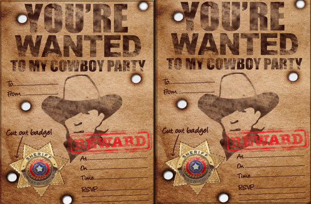 Cowboy party ideas goodtoknow – Wild West Party Invites