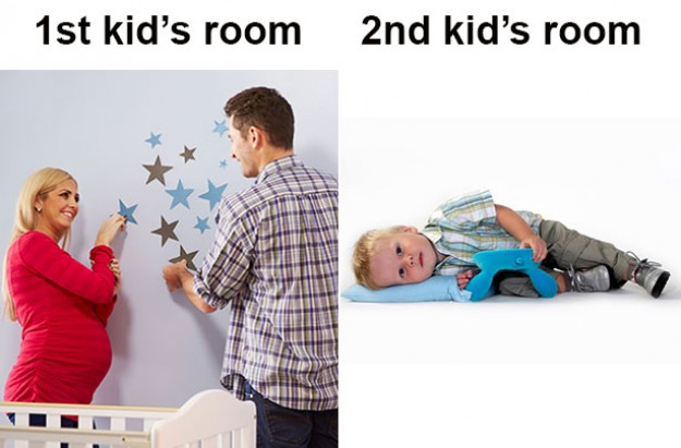parenting first time v second