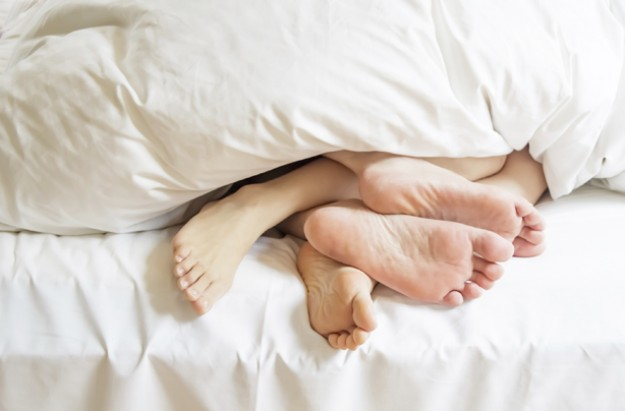 Couple in bed, sleep, sex, boosting male fertility